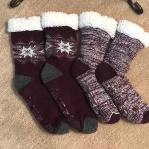 Mukluk cabin socks
